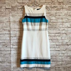 WHBM white sheath dress